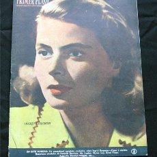 Cine: INGRID BERGMAN PORTADA-REVISTA COMPLETA PRIMER PLANO DICIEMBRE 1948-SIMONE SIGNORET-IDA LUPINO. Lote 9718350