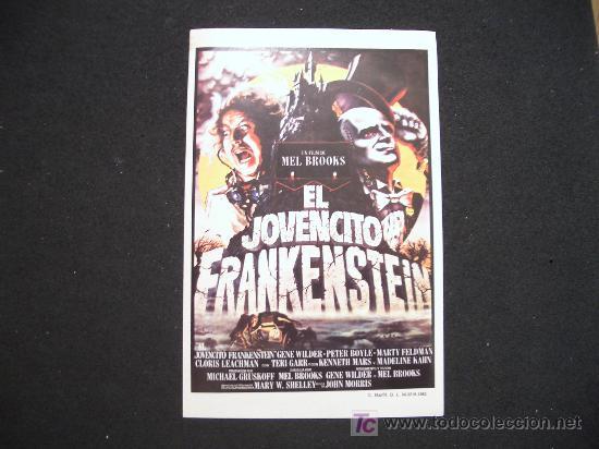 FOLLETO DE MANO DEL JOVENCITO FRANKENSTEIN. GRAFICAS MARFIL 1983 (Cine - Reproducciones de carteles, folletos...)