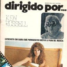 Cine: DIRIGIDO POR Nº 31 - REVISTA DE CINE – KEN RUSSELL. Lote 25809781