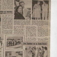 Cine: FOTOGRAMAS. AÑO 1956. AVA GADNER EN PALAMOS. ULLA JACOBSON.BILLY WILDER.ERROL FLYNN.CINE. FOTOS . . Lote 21961455