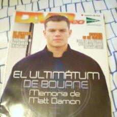 Cine: REVISTA 'DEVÍDEO', Nº 75. ENERO 2008. EN PORTADA MATT DAMON EN 'EL ULTIMÁTUM DE BOURNE'.. Lote 20737273
