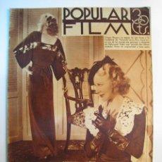 Cine: REVISTA CINE POPULAR FILM - Nº 450 - ABRIL 1935. Lote 8544115