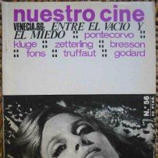 Cine: NUESTRO CINE Nº56. VENECIA 66: ENTRE EL VACIO Y EL MIEDO. 1966. Lote 27355713