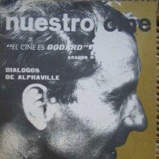Cine: NUESTRO CINE Nº49. GODARD, DIÁLOGOS DE ALPHAVILLE, BUSTER KEATON, CINE EN LATINOAMERICANO.1966. Lote 27307111