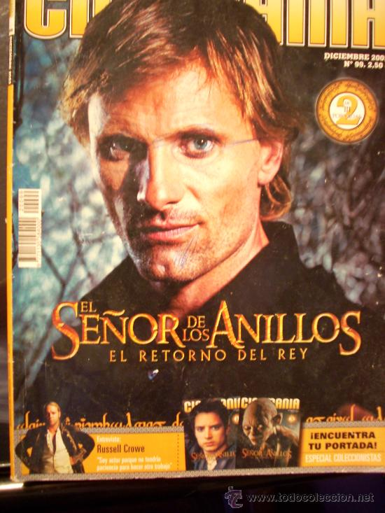 REVISTA 'CINEMANIA', Nº 99. DICIEMBRE 2003. VIGGO MORTENSEN EN 'EL RETORNO DEL REY' EN PORTADA. (Cine - Revistas - Cinemanía)
