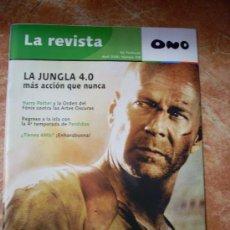 Cine: REVISTA 'ONO', Nº 109. ABRIL 2008. BRUCE WILLIS EN 'LA JUNGLA 4.0' EN PORTADA.. Lote 23068044