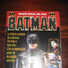 Cine: BATMAN TIM BURTON REVISTA OFICIAL PRIMERA PELÍCULA. Lote 27137816