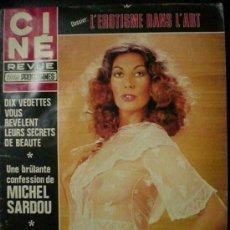 Cine: CINE REVUE REVISTA FRANCESA- MICHEL SARDOU, BRIGITTE BARDOT, SILVANA MANGANO ETC..1975. Lote 9207651
