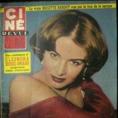 Cine: CINE REVUE REVISTA FRANCESA- BRIGITTE BARDOT, DARRY COWL, FERNAND CLOCHARD ETC. 1957. Lote 9207660