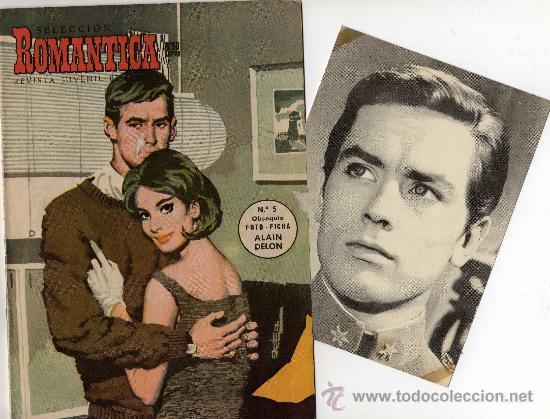ROMANTICA Nº 5 CON FOTO-FICHA DE ALAIN DELON (Cine - Revistas - Cinelandia)