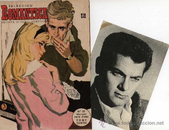 ROMANTICA Nº 23 CON FOTO-FICHA DE TONY CURTIS (Cine - Revistas - Cinelandia)