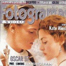 Cine: REVISTA FOTOGRAMAS Y VIDEO. Lote 1113902
