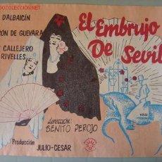 Cine: EL EMBRUJO DE SEVILLA - MARIA D'ALBAICIN, RAFAEL RIVELLES - RENAU. Lote 7576093