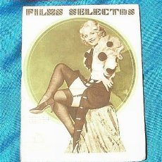 Cine: REVISTA DE CINE FILMS SELECTOS JULIO 1933. Lote 23097390