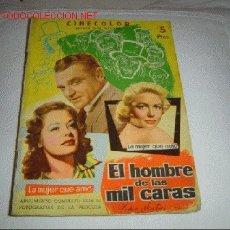 Cinema: EL HOMBRE DE LAS MIL CARAS.. Lote 11104583