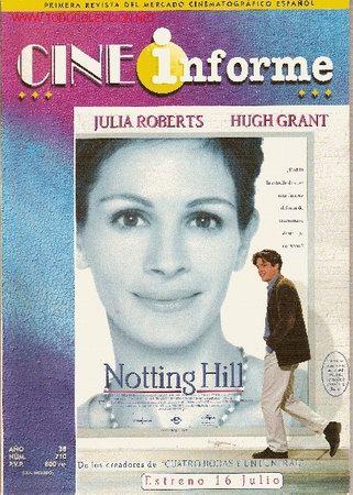 REVISTA PROFESIONAL 'CINE INFORME', Nº 710. JUNIO 1999. 'NOTTING HILL' EN PORTADA. (Cine - Revistas - Otros)