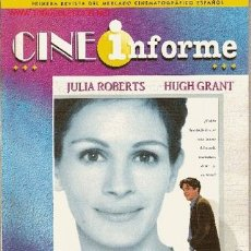 Cine: REVISTA PROFESIONAL 'CINE INFORME', Nº 710. JUNIO 1999. 'NOTTING HILL' EN PORTADA.. Lote 17248833