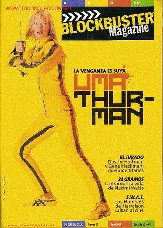 REVISTA 'BLOCKBUSTER MAGAZINE', Nº 56. JUNIO 2004. UMA THURMAN - KILL BILL VOL. 1 EN PORTADA. (Cine - Revistas - Otros)