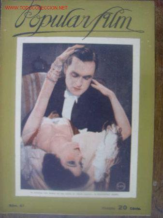 REVISTA POPULAR FILM 1927 Nº 67. PORTADA LILY DAMITA (Cine - Revistas - Popular film)