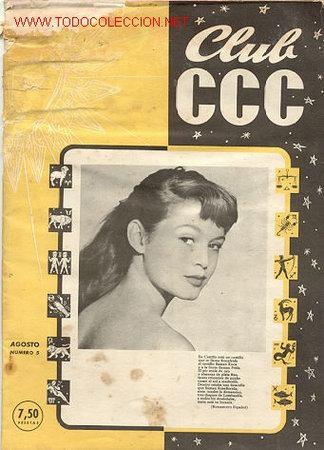 ANTIGUA REVISTA CLUB CCC Nº 5 / AÑO 1954 / BRIGITTE BARDOT/// EDITADO EN ESPAÑA (Cine - Revistas - Otros)