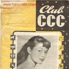Cine: ANTIGUA REVISTA CLUB CCC Nº 5 / AÑO 1954 / BRIGITTE BARDOT/// EDITADO EN ESPAÑA. Lote 15735963