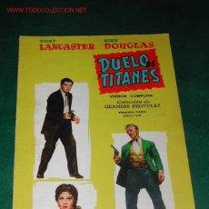 Cine: COL. GRANDES PELICULAS N.14 - DUELO DE TITANES CON BURT LANCASTER Y KIRK DOUGLAS 1959. Lote 23439815
