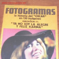 Cine: FOTOGRAMAS Nº 1174 - ABRIL 1971 - KARINA - ODILE RODIN - BEBA LONCAR - MIREILLE DARC. Lote 21175718
