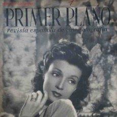 Cine: PRIMER PLANO. REVISTA ESPAÑOLA DE CINEMATOGRAFIA. AÑO I, NÚM.1. 20 OCTUBRE 1940. Lote 25212842