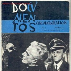 Cine: DOCUMENTOS CINEMATOGRÁFICOS 1960. Nº2. CINE, GUERRA MUNDIAL, ROSSELLINI, ROVERE, PACO RABAL.. Lote 27488985