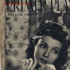 Cine: PRIMER PLANO REVISTA, Nº 1 AÑO 20/09/1940. Lote 26028717
