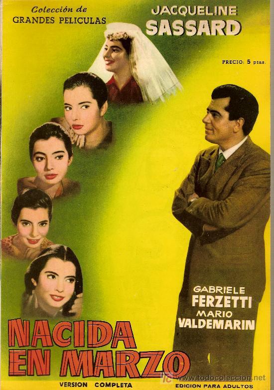COLECCIÓN GRANDES PELÍCULAS NACIDA EN MARZO (Cine - Revistas - Colección grandes películas)