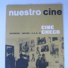 Cinema: REVISTA NUESTRO CINE Nº 47 - ANTONIONI - DREYER - CINE CHECO. Lote 9739122