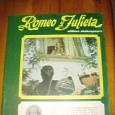 Cine: ROMEO Y JULIETA. WILLIAM SHAKESPEARE. FOTOTEATRO. EDITORIAL ROLLAN. 1971. RUSTICA.. Lote 9826316