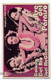 AVE DEL PARAISO, POR JOEL MCCREA. (Cine - Reproducciones de carteles, folletos...)