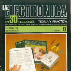 Cine: LA ELECTRONICA EN 30 LECCIONES TEORIA Y PRACTICA Nº 8 ONDAS NO SENOIDALES BOIXAREU EDITORES. Lote 10211721