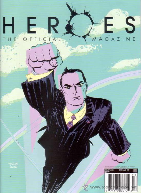 HEROES MAGAZINE VOL.1 # 2 (TITAN PUBLISHING,2008) - PREVIEWS EXCLUSIVE VARIANT COVER (Cine - Revistas - Otros)