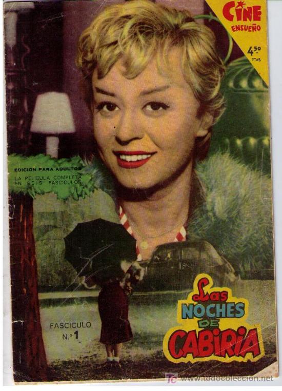 CINE ENSUEÑO. FHER 1959. LAS NOCHES DE CABIRIA. Nº 1 (Cine - Revistas - Otros)