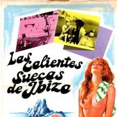 Cine: POSTER O CARTEL -LA PELICULA CALSIFICADA -S- LAS CALIENTES SUECAS DE IBIZA. Lote 56566481