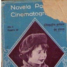 Cine: NOVELA POPULAR CINEMATOGRÁFICA. Nº 49. Lote 10613967