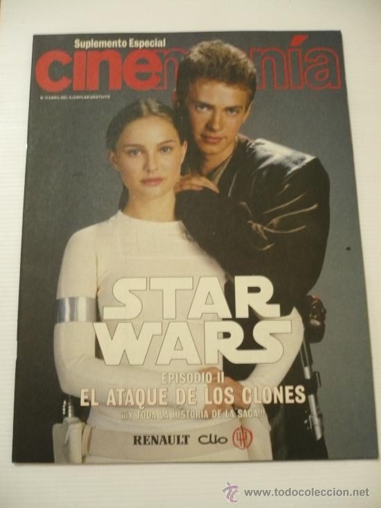 STAR WARS ESPECIAL CINEMANIA VOL 1 EL ATAQUE DE LOS CLONES .EPISODIO II. (Cine - Revistas - Cinemanía)
