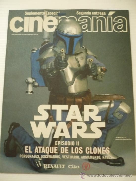 STAR WARS ESPECIAL CINEMANIA VOL 2 EL ATAQUE DE LOS CLONES .EPISODIO II. (Cine - Revistas - Cinemanía)