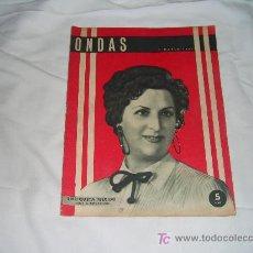 Cinéma: ONDAS Nº 54, MARZO DE 1955:ENRIQUETA TEIXIDO.BOBBY DEGLANE.FRANKIE LAINE. Lote 10977723