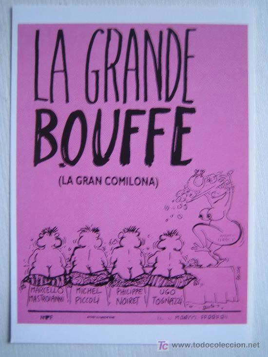 LA GRANDE BOUFFE - FOLLETO REPRODUCCION - MARCO FERRERI MARCELLO MASTROIANNI (Cine - Reproducciones de carteles, folletos...)