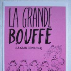 Cine: LA GRANDE BOUFFE - FOLLETO REPRODUCCION - MARCO FERRERI MARCELLO MASTROIANNI. Lote 261893270