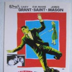Cinema: CON LA MUERTE EN LOS TALONES - HITCHCOCK CARY GRANT EVA MARIE SAINT - FOLLETO REPRODUCCION. Lote 11058643