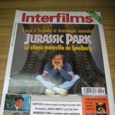 Cine: INTERFILMS Nº 61. OCTUBRE 1993 - JURASSIC PARK. Lote 16745966