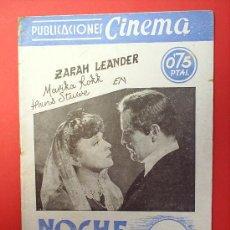 Cine: PUBLICACIONES CINEMA N.16-NOCHE EMBRUJADA,-. Lote 21372262