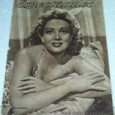 Cine: ESPECTACULOS -- Nº 37 - 1945 - MUY BUENA- LEER DESCR. Y ENVIO. Lote 11521865
