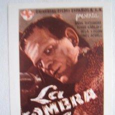 Cinéma: LA SOMBRA DE FRANKENSTEIN - FOLLETO REPRODUCCION - BORIS KARLOFF BELA LUGOSI BASIL RATHBONE. Lote 31118511