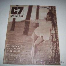 Cine: C7 CINE EN 7 DÍAS Nº 281 - PORTADA DE CLAUDIA CARDINALE. Lote 25785653